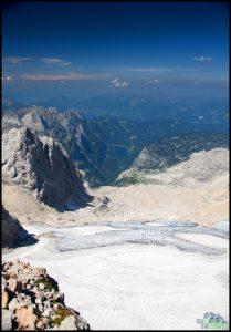 Dachstein - pohled z vrcholu na Gosausee
