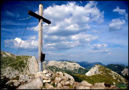 Vrcholový kříž na Trawengu