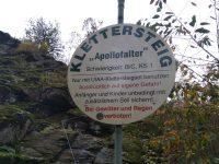 Apollofalter - informační tabule