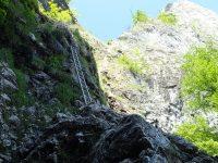 Drachenwand - Začátek ferraty