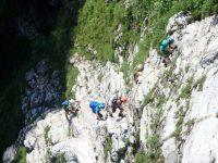 Drachenwand - Ukrajování prvních metrů ferraty