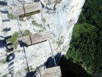 Drachenwand - Pohled z mostu dolů