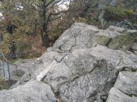 Reisenboulder - vrchol, společný pro obě cesty, sestup je možný po lehčí via ferratě nebo po turistické trase