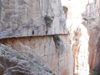 Původní El Caminito del Rey v roce 2014