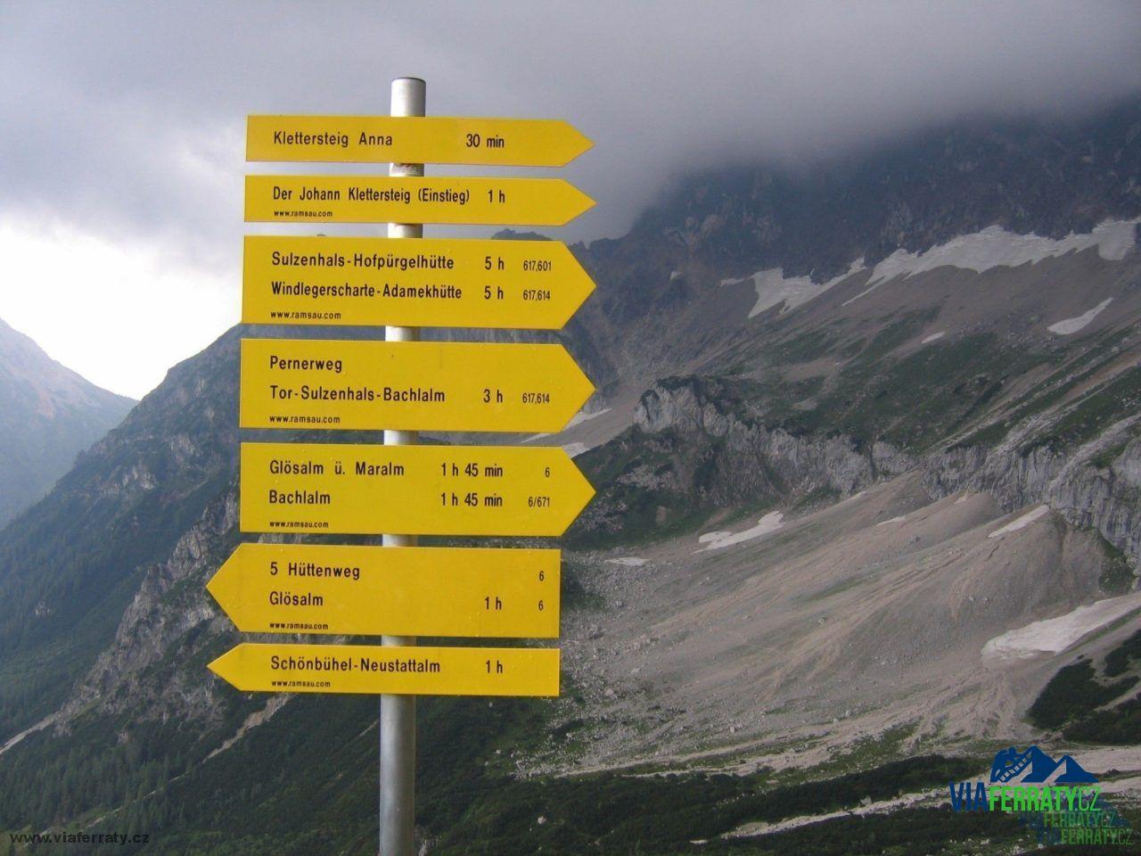 Klettersteig Johann Topo : Johann klettersteig dachstein topo: super ferrata