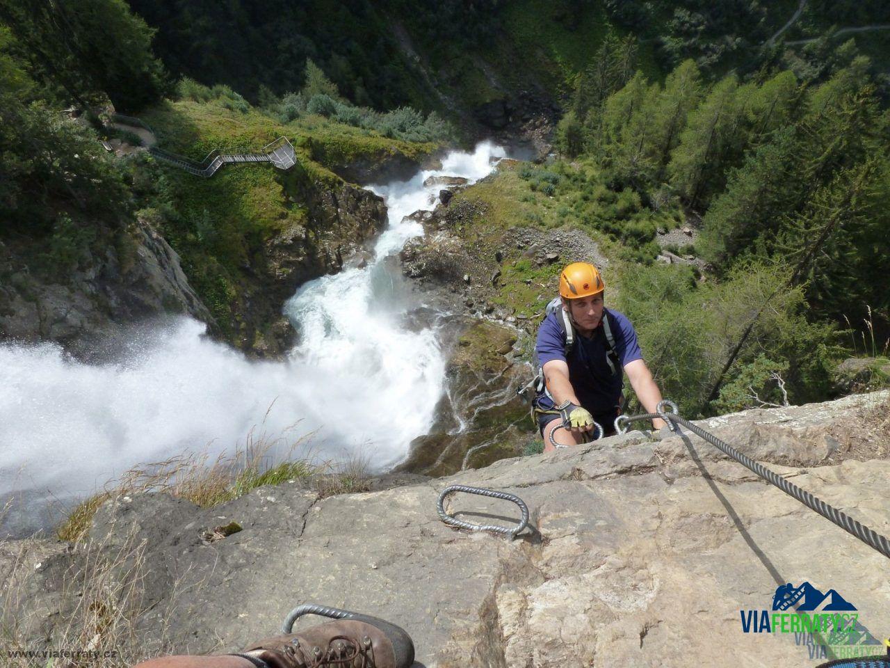 Klettersteig Stuibenfall : Klettersteig stuibenfall u Ötztal viaferraty cz