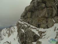 Schulteranstieg - klettersteig