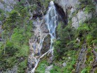 Rosina - vodopád vedle ferraty