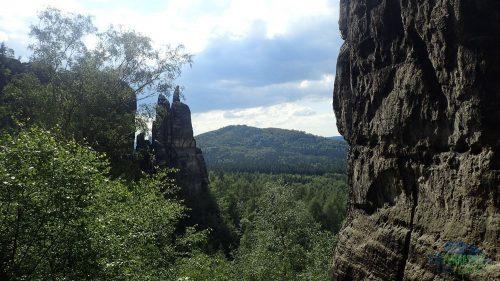 Häntzschelstiege - věže Brosinnadel a Amboß