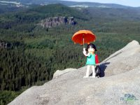 Häntzschelstiege - na vrcholu