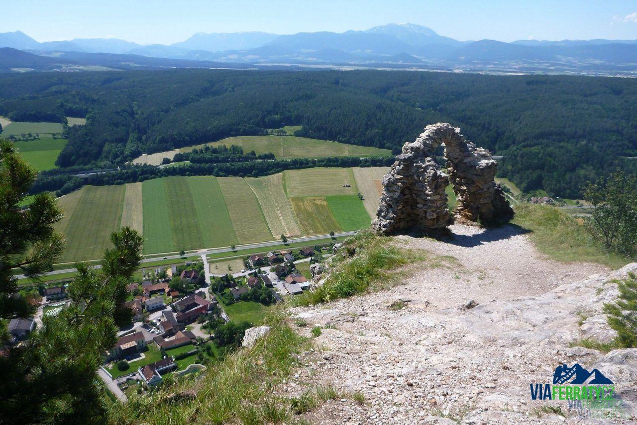 Pittentaler Klettersteig : Pittentaler klettersteig turecký hrad viaferraty.cz