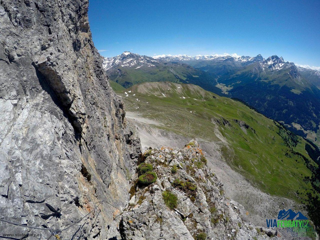 Klettersteig Piz Mitgel : Senda ferrada piz mitgel klettersteig viaferraty.cz