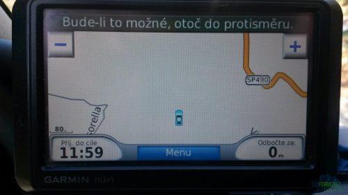 Při pohledu na GPS jsme měli jasno - Via ferrata degli Artisti