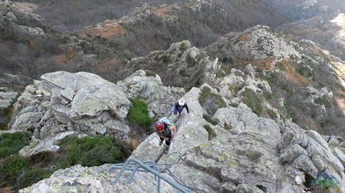 Téměř na vrcholu - Via ferrata degli Artisti