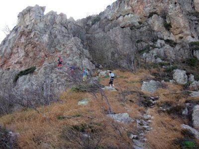 Po chvilce jsme se dostali k dalším skalám - Via ferrata degli Artisti