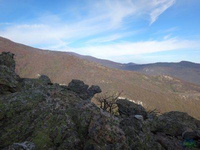 Výhled na okolní kopce - Via ferrata degli Artisti