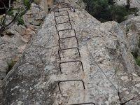 Via ferrata Shelter Rock - první pilíř.