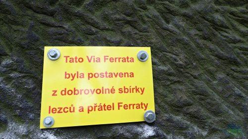 Ferrata vznikla díky dobrovolné sbírce.