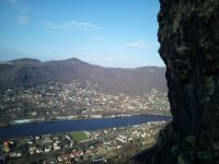 via-ferrata-lužická-spojka-pohled před vrcholem