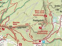 via-ferrata-mein-land-dein-land-mapa pro ilustraci
