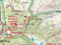 via-ferrata-nasenwand-ginzling-mapa