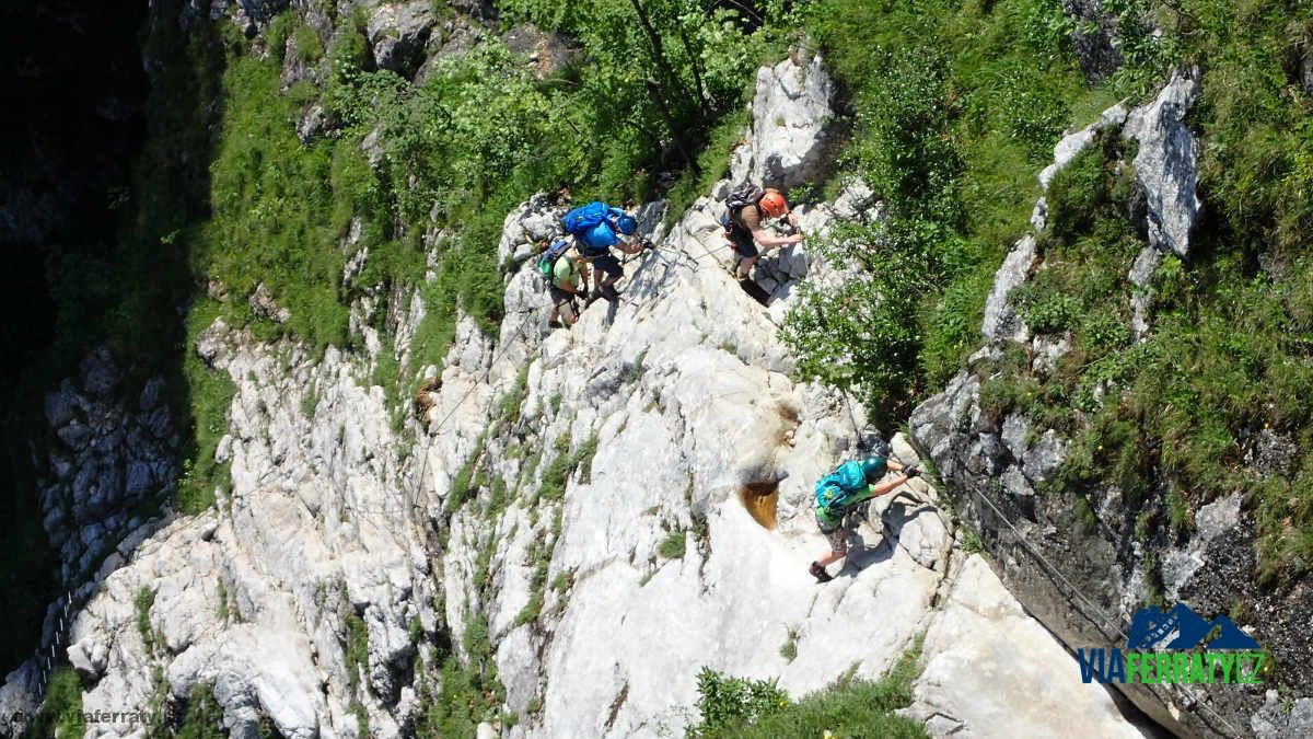 Via ferrata Drachenwand je dočasně uzavřená