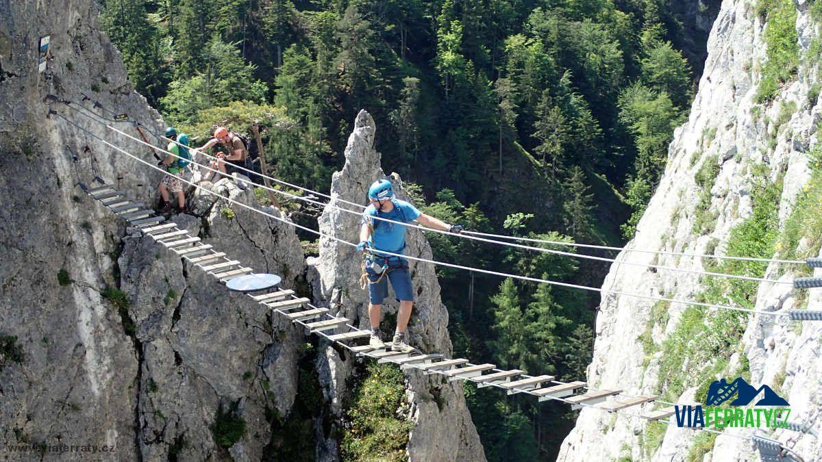 Dočasné uzavření via ferraty Drachenwand