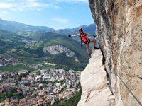 Holky na via ferratě Monte Albano