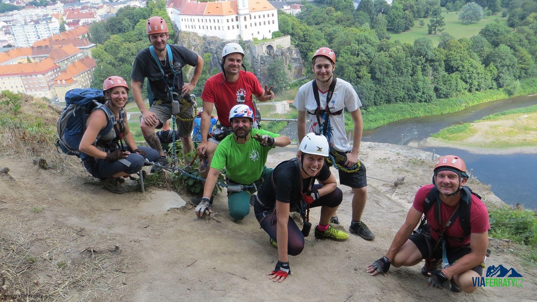 Kurz lezení po via ferratách v Děčíně